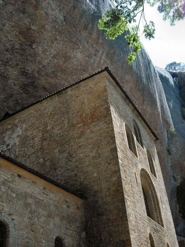 ...to Santiago de Compostella at a safe mountainside location and built into and beneath a huge rock...