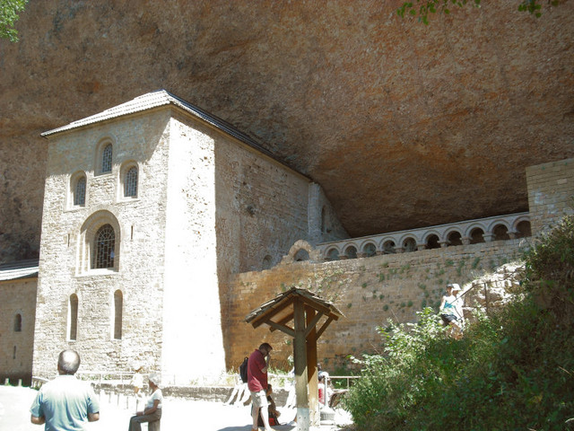 Saint John of the Rock, San Juan de la Pena Monastery in Aragon, northern Spain, on the pilgrimage route...
