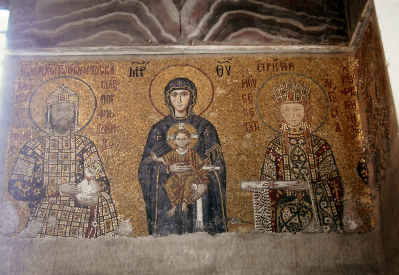 ...from 1118AD, the Virgin and Child, with the Byzantine Emperor...