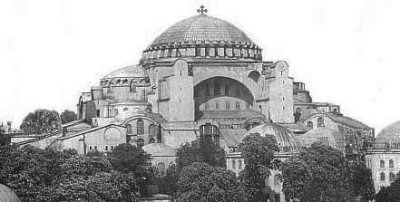 Hagia Sofia, Church of the Holy Wisdom of God, Constantinople, in an early engraving...