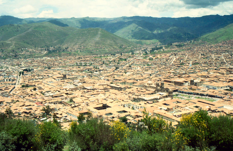 High up in the Andes mountains in the city of Quosqo, or Cuzco...