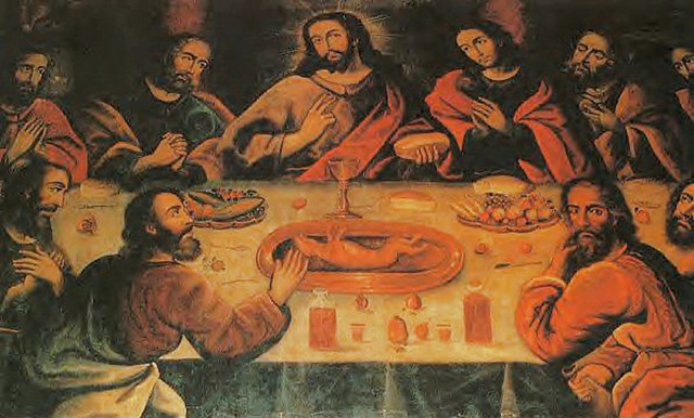 ...this Last Supper by Marcos Zapata, with its prominent guinea pig, is in the Cathedral of Cusco.