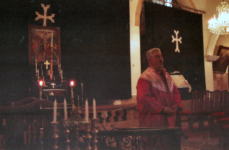 ...while here some Armenian liturgy is being chanted.