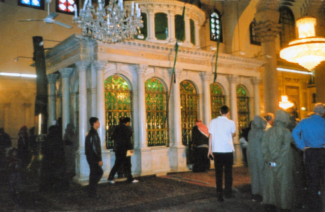 ...which is situated prominently in the main hall of the Umayyad Mosque in Damascus.