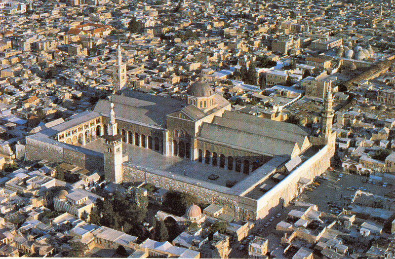 The vast Umayyad Mosque, or Grand Mosque, in the centre of Damascus is the location...